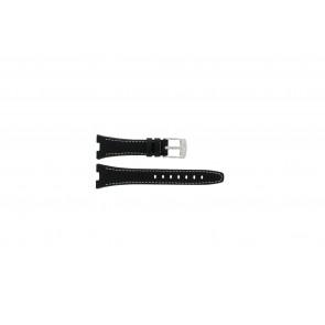 Camel cinturino orologio 6000-6007 Pelle Nero 22mm + cuciture bianco