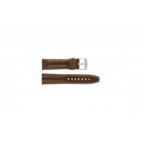 Camel cinturino orologio 6720-6729 / 6760-6769 Pelle Marrone 22mm + cuciture bianco