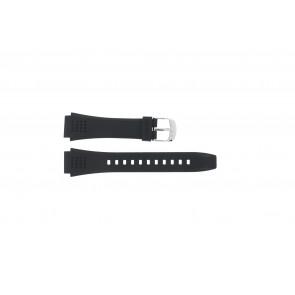 Casio cinturino orologio EFA-124-1AVW Gomma Nero 20mm
