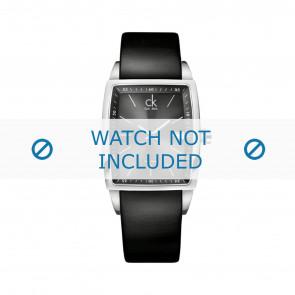 Calvin Klein cinturino dell'orologio K30411 Pelle Nero