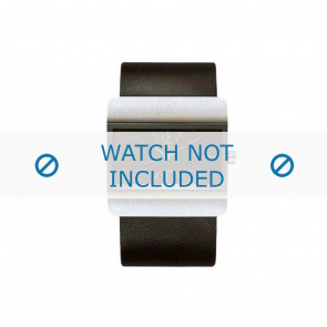 Calvin Klein cinturino dell'orologio K52211.04 / K600058403 Pelle Nero