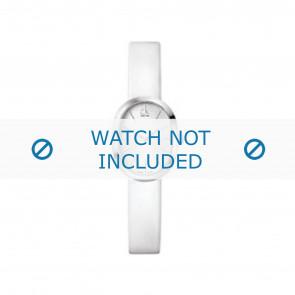 Calvin Klein cinturino dell'orologio K37232 Pelle Bianco