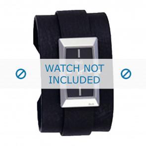 Dolce & Gabbana cinturino dell'orologio 3719040031 Pelle Nero + cuciture nero