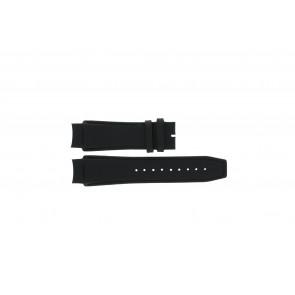 Dolce & Gabbana cinturino dell'orologio 3719770097 Pelle Nero 20mm + cuciture nero