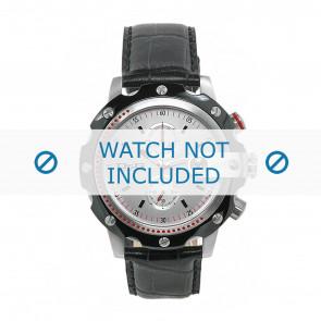Dolce & Gabbana cinturino dell'orologio DW0366 Pelle Nero + cuciture nero