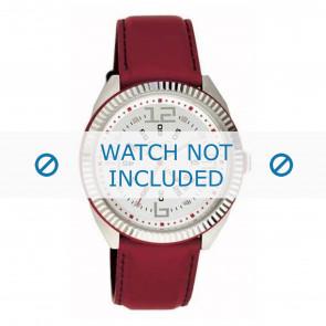 Dolce & Gabbana cinturino dell'orologio DW0032 Pelle Rosso 20mm + cuciture rosso