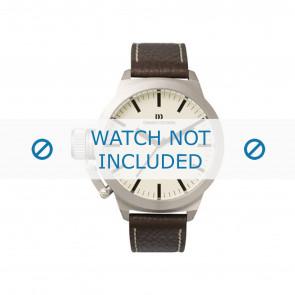 Danish Design cinturino dell'orologio IQ13Q107 Pelle Marrone scuro 20mm + cuciture bianco