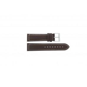 Davis cinturino orologio BB1021 / BB1023 Pelle Marrone scuro 22mm