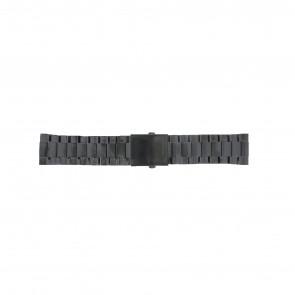 Diesel cinturino dell'orologio DZ4318 / DZ4283 / DZ4316 / DZ4355 / DZ4309 Metallo Nero 26mm