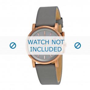 DKNY cinturino dell'orologio NY2341 Pelle Grigio 12mm