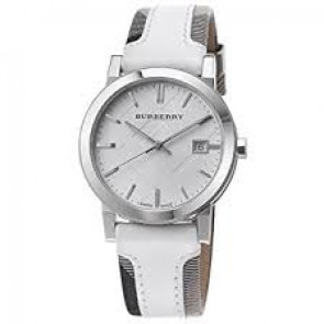 Cinturino per orologio Burberry BU9019 Pelle Bianco