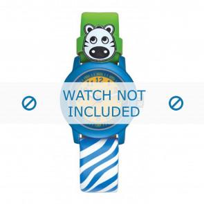 Esprit cinturino dell'orologio ES106414-40BLGR Pelle Blu
