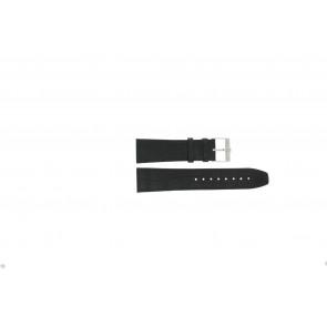 Jacques Lemans cinturino dell'orologio FC29 / 9-201 Pelle Nero 23mm + cuciture nero