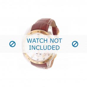 Ferrari cinturino dell'orologio SF-05-1-20-0023 /  689300029 Pelle Marrone + cuciture bianco