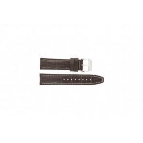 Festina cinturino orologio F16081/8 Pelle Marrone 22mm + cuciture bianco