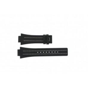 Festina cinturino dell'orologio F16185 / 1 Pelle Nero 16mm + cuciture bianco