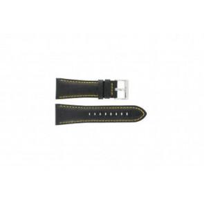 Festina cinturino orologio F16235/7 Pelle Nero 28mm + cuciture giallo