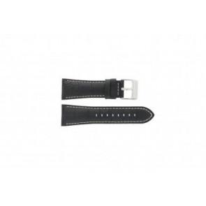 Festina cinturino orologio F16235/6 Pelle Nero 28mm + cuciture bianco