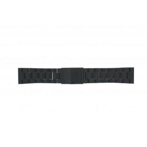 Fossil cinturino dell'orologio FS4552 / FS4718 / FS4719 / JR1356 Metallo Nero 24mm