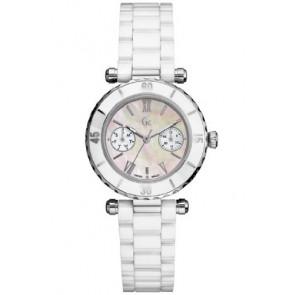 Guess cinturino dell'orologio GC35003L Ceramica Bianco