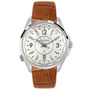 Jacques Lemans cinturino dell'orologio GU200 / G175 Pelle Cognac 23mm + cuciture marrone