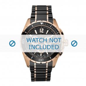 Guess cinturino dell'orologio GC55000G Ceramica Nero