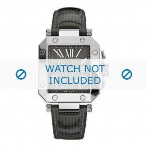 Guess cinturino dell'orologio GCA50006G2 Pelle Nero + cuciture di default