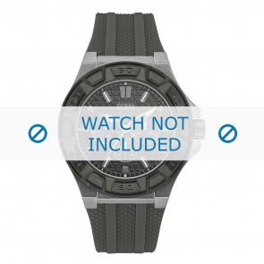 Guess cinturino dell'orologio W0674G8 Gomma Nero 17mm