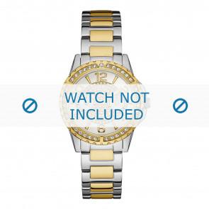 Guess cinturino dell'orologio W0705L4 Sassy Metallo Bi-colore 18mm