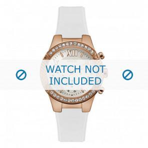 Guess cinturino dell'orologio W0773L6 Silicone Bianco 21mm