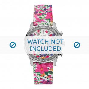 Guess cinturino dell'orologio W0903L1 Melody Tessuto Multicolore 20mm + cuciture di default
