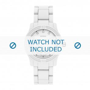 Guess cinturino dell'orologio W0944L1 Funfetti Plastica Bianco 20mm