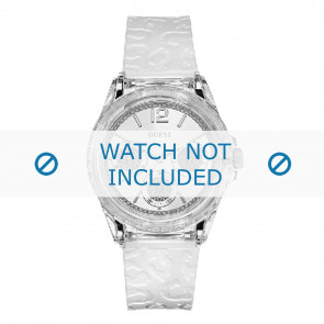 Guess cinturino dell'orologio W0947L2 Starlight Plastica Bianco 21mm