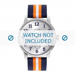 Guess cinturino dell'orologio W0975G2 Brooklyn Tessuto Multicolore + cuciture di default