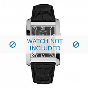 Guess cinturino dell'orologio W10213G1 Pelle Nero + cuciture nero