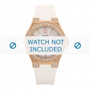 Guess cinturino dell'orologio W16577L1 Silicone Bianco 22mm