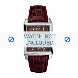 Guess cinturino dell'orologio W95014G1 Pelle Marrone + cuciture marrone