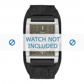 Guess cinturino dell'orologio W95089G1 Pelle Nero + cuciture di default