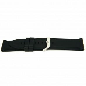 Cinturino orologio Gomma 26mm Nero EX K63 26 2 26