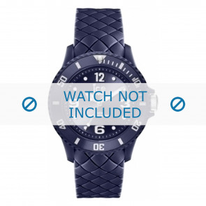 Ice Watch cinturino dell'orologio 007271 Pelle Blu 20mm + cuciture di default
