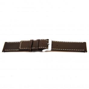 Cinturino dell'orologio N310 Pelle Marrone scuro 34mm + cuciture bianco