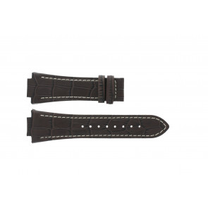 Jaguar cinturino dell'orologio J625/4 / J620 / J620-4 Pelle Marrone 28mm + cuciture bianco