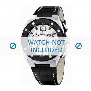Jaguar cinturino dell'orologio J620/1 Pelle Nero 16mm + cuciture bianco