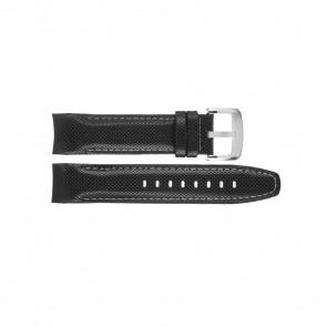 Jaguar cinturino dell'orologio J650-LED / J650/1 / J650/X / J651/1 / J652/1 / J653 Pelle Nero 22mm + cuciture bianco