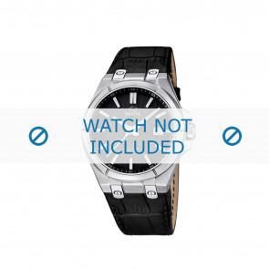 Jaguar cinturino dell'orologio J670.3 / J670.6 Pelle di coccodrillo Nero + cuciture nero