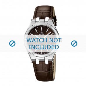 Jaguar cinturino dell'orologio J674-2 Pelle Marrone + cuciture marrone