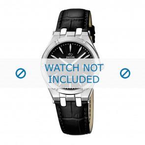Jaguar cinturino dell'orologio J674-3 / J674-5 Pelle Nero + cuciture nero