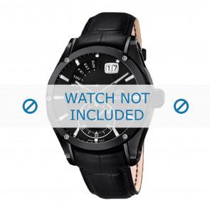 Jaguar cinturino dell'orologio J681-A / J681-B Pelle Nero + cuciture nero