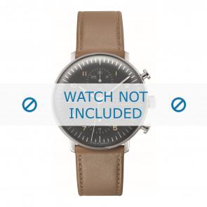 Junghans cinturino dell'orologio 027/4501.01 Pelle Marrone 20mm + cuciture di default