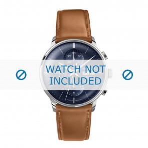 Junghans cinturino dell'orologio 027/4526.00 Pelle Cognac 21mm + cuciture di default